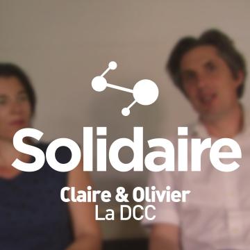 Claire et Olivier, volontaires avec La DCC