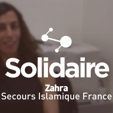Zahra, salariée au Secours Islamique France
